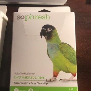 Bird habitat liners (2 boxes )